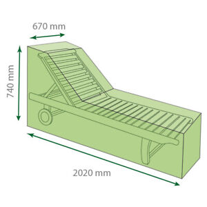 St Helens Home and Garden Water Resistant Sunlounger Cover 67cm * 202cm GH006