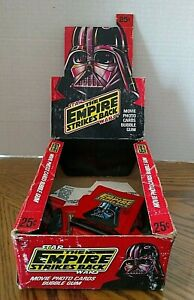 Empire Strikes Back Star Wars Empty Display Box With Some Wrappers/1980/Topps