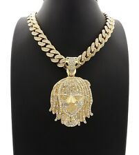 """LIL PUMP PIECE WITH 12mm 20"""" ICE BLING MIAMI CUBAN CHAIN"""