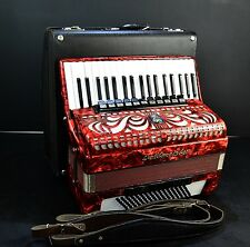 German Accordion Weltmeister Caprice 96 Bass,16sw.+Case&Brand New Straps~Musette