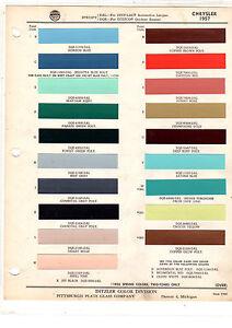 1957 CHRYSLER IMPERIAL WINDSOR SARATOGA NEW YORKER 300 PAINT CHIPS DITZLER3 19PC