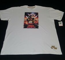 "NWT White Vintage Retro Nike Force ""Godzilla vs Charles Barkley"" Shirt"
