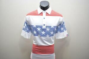 UASG Golf Polo Athletic Fit U SUCK AT GOLF American Flag Golf Shirt Mens Medium