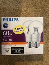 PHILIPS 60-Watt Equivalent A19 Non-Dimmable LED Light Bulb Soft White - 2 count