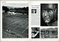 1938 Sid Luckman Columbia football NFL Chicago Bears vintage photo article adL51