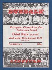 Orig.PRG   EC 1  1979/80   DUNDALK FC - LINFIELD FC  !!  SEHR SELTEN