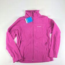Columbia Cool Intervention Full Zip Fleece Jacket Pink Women Size Large