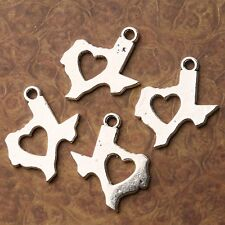 Tibetan Silver plated LOVE TEXAS map pendant charms 12pcs h0132