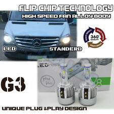 MERCEDES SPRINTER- H7 G3 COB LED Headlight Bulbs Kit 7600 Lumens Canbus 72W HID