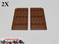 LEGO 30223 NEUWARE 2 x Burgtür Tür 1x5x7 1//2 dunkelrot mit Scharniersteinen