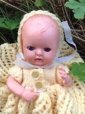 Vintage 1950s HP rosebud thumbsuck doll blue eyes