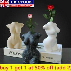 Modern Nude Female Body Vase Ceramic Art Tabletop Flower Home Decor Pot Nordic !