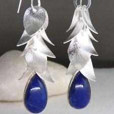 Handmade Lapis Lazuli Not Enhanced Fine Earrings
