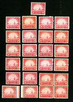 US Stamps # 698 F-VF+VF Lot of 25 OG NH Scott Value $312.00