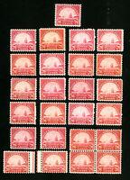 US Stamps # 698 F-VF+VF Lot of 25 OG NH Scott Value $312.00