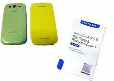 Samsung Galaxy S3 Flip Cover & Protective Cover + Bundle 1 Yellow 1 Green