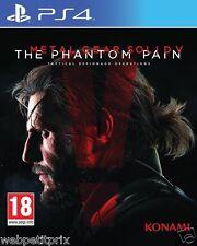 Metal Gear Solid V : The Phantom Pain + Boitier Metal Steelbook PS4  Neuf