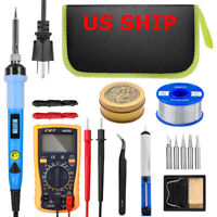 Electric Soldering Iron Gun Adjustable Temperature 80W Welding Solder Tool Kits