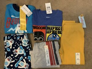 Boys Toddler Clothes Lot Size 4T Cat Jack, Carters, Jumping Bean, Star Wars NEW