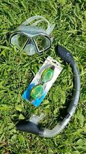 AQUA LUNG Snorkel Dive Mask with Silicone and Strap for Scuba Clear Snorkel