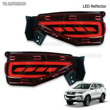 For Toyota New Fortuner 4Dr Suv 2016 2017 LED Red Reflector Brake & Light Bumber