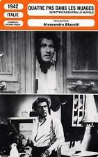 FICHE CINEMA : QUATRE PAS DANS LES NUAGES - Cervi,Benetti,Blasetti 1942