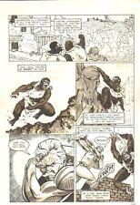Planet of the Apes: Ape City #14 p.10 - Fighting Scene - 1990 art by M.C. Wyman