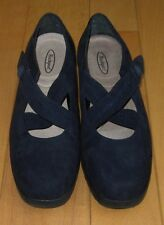 Rockport Womens Navy Blue Suede Mary Jane Loafers 7 / 7.5