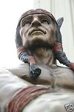 GIANT BRONZE cigar INDIAN CHIEF SCULPTURE MONUMENT SIGN Cigar Native Cherokee