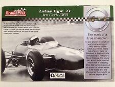 1965 Jim Clark Lotus Type 33 RBA ATLAS EDITION A5 PAPER BOOKLET