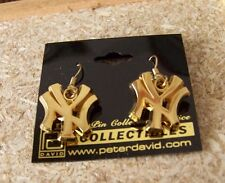 New York Yankees NY logo gold tone dangle earrings MLB c32813