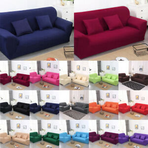 Stretch Sofa Slipcover Protector Elastic Soft Couch Cover 1/2/3/4 Seats