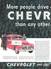 CHEVROLET 1948 MORE PEOPLE DRIVE & WANT THAN ANY OTHER CAR MAKE 2 PG AD