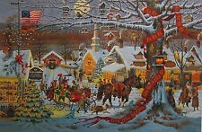 "Charles Wysocki Small Town Christmas S And N With Cert Image Size 23"" x 16"""