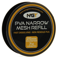NGT PVA NARROW REFILL MESH 25mm 7m CARP/COARSE FISHING
