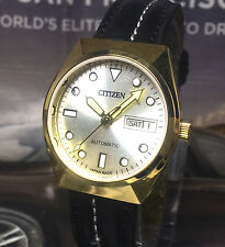 VINTAGE CITIZEN AUTOMATIC 21 JEWELS DAY DATE GOLD PLATED CASE WRIST WATCH (S.9)