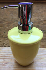Cute Yellow Ceramic Pump Dispenser/For Liquid Soap/Lotion Etc/Modern Made