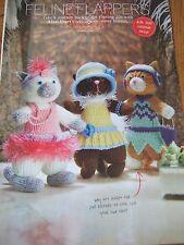 Alan Dart  FELINE FLAPPERS Cats   Toy Pattern DK