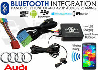 Audi A8 1999-2004 Bluetooth music streaming handsfree car kit AUX adapter iPhone