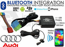 AUDI A8 1999-2004 musica in streaming Bluetooth Vivavoce Auto Kit adattatore AUX iPhone