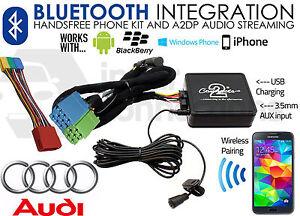 Audi TT 1999-2006 Bluetooth music streaming handsfree car kit AUX USB MP3 iPhone