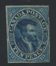 Canada 1855 Pence Jaques Cartier 10d blue #7 used