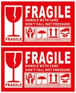 1pc-100pc Fragile Handle With Care Label Sticker 90mm x 54mm