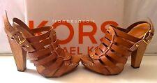 Michael Kors Kelsey Gladiator Sandals heels mules strappy shoes 36 6 Brown