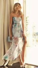 Size 16 Forever New Beautiful Floral SILK Maxi Dress RRP 200