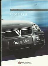 VAUXHALL OMEGA SALOON AND ESTATE MODELS HIGHLIGHTS SALES BROCHURE 1997 1998
