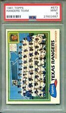 1981 Topps Texas Rangers Team #673 PSA 9 Mint Don Zimmer Only 38 10's