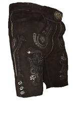 Bayrische Trachten Lederhose kurz in schwarz braun Gr.46-64