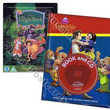 2-Disc Disney Snow White Book +CD +Jungle Book Diamond Edition Steelbook Blu Ray