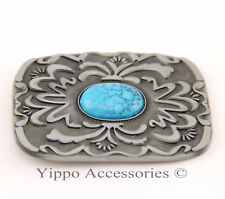 Western Native American Turquoise Stone Indian Metal Fashion Belt Buckle